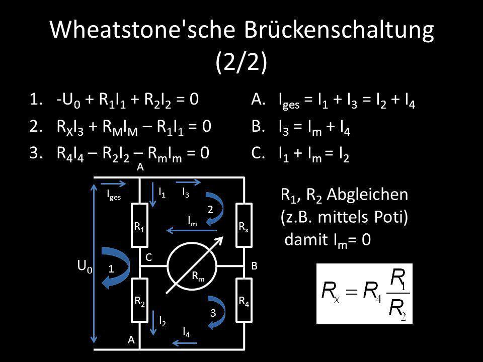 Wheatstone sche Brückenschaltung (2/2)