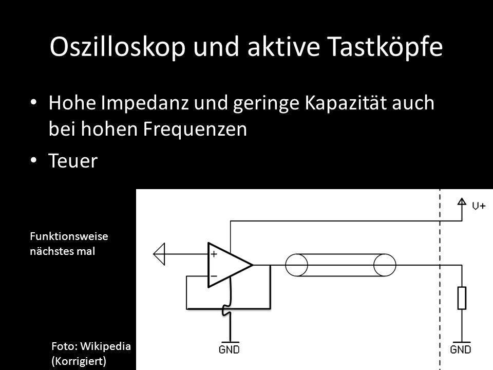 Oszilloskop und aktive Tastköpfe