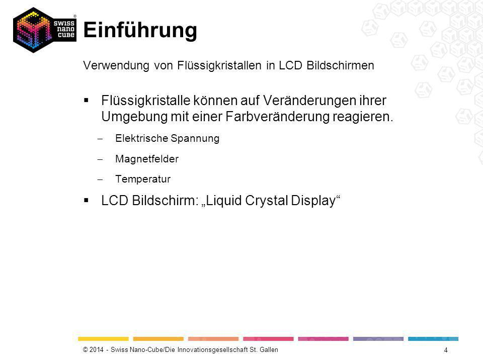 Einführung Verwendung von Flüssigkristallen in LCD Bildschirmen.