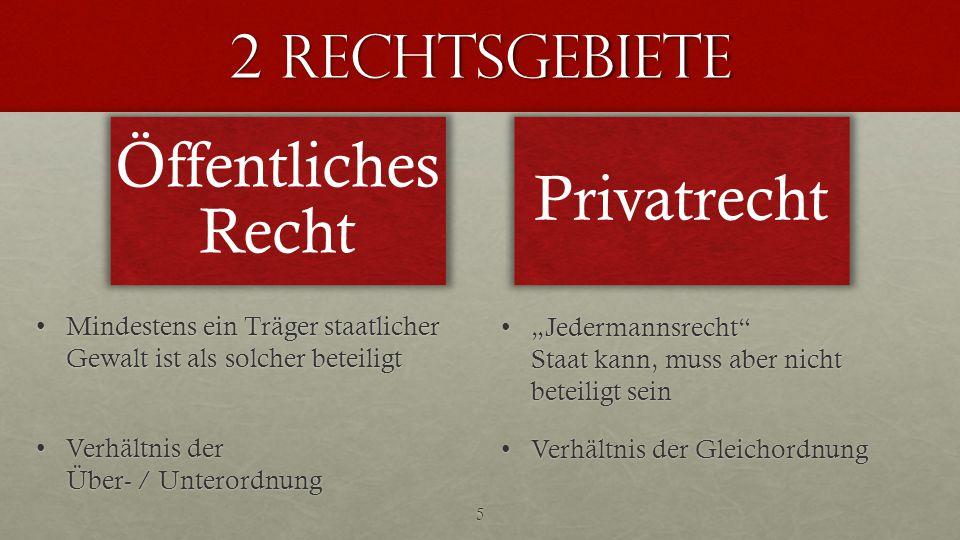 Öffentliches Recht Privatrecht 2 Rechtsgebiete