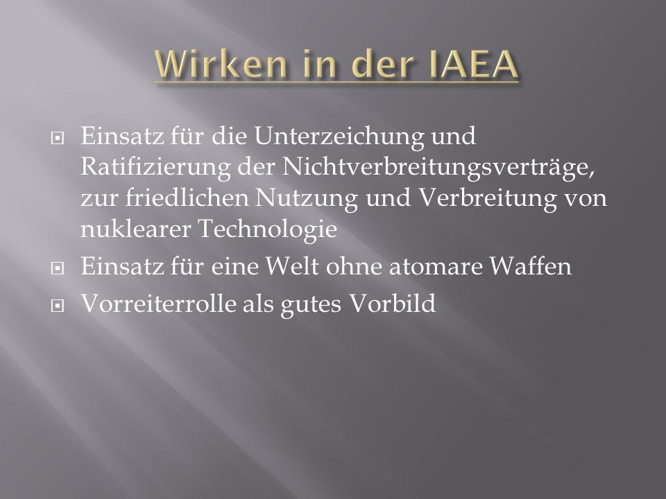 Wirken in der IAEA