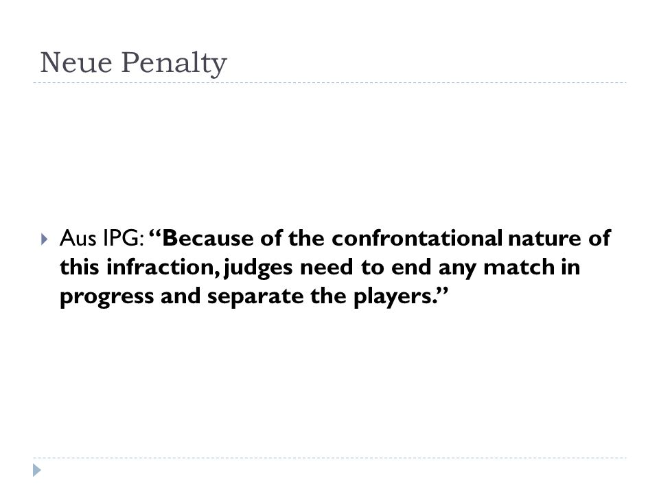 Neue Penalty