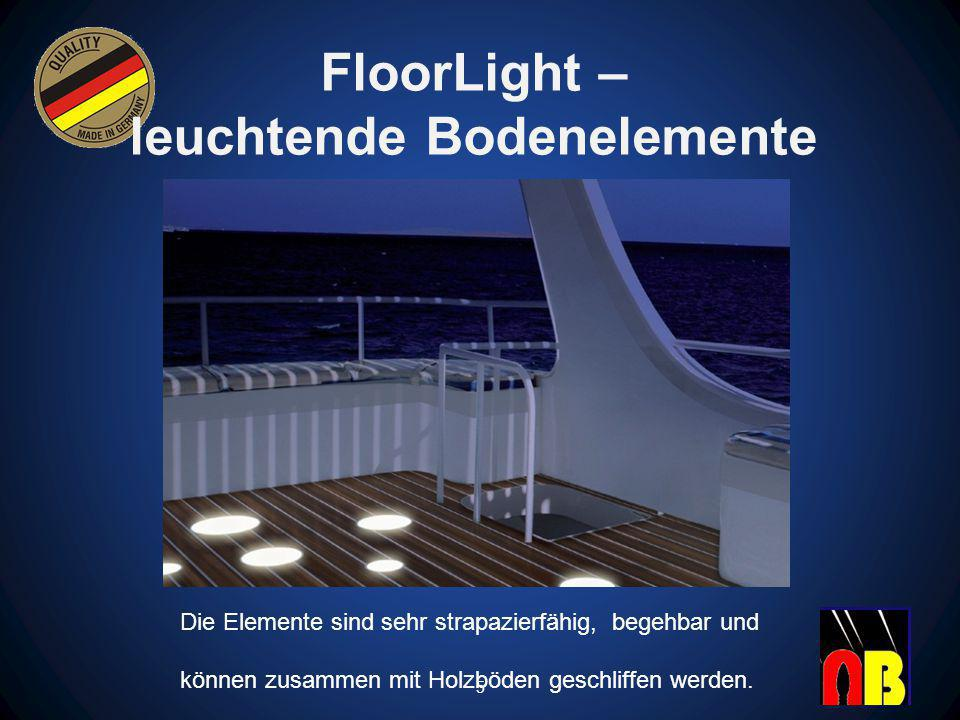 FloorLight – leuchtende Bodenelemente