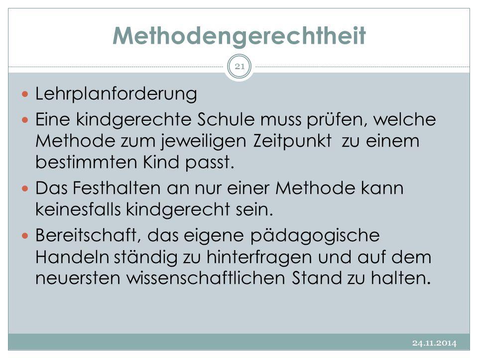 Methodengerechtheit Lehrplanforderung
