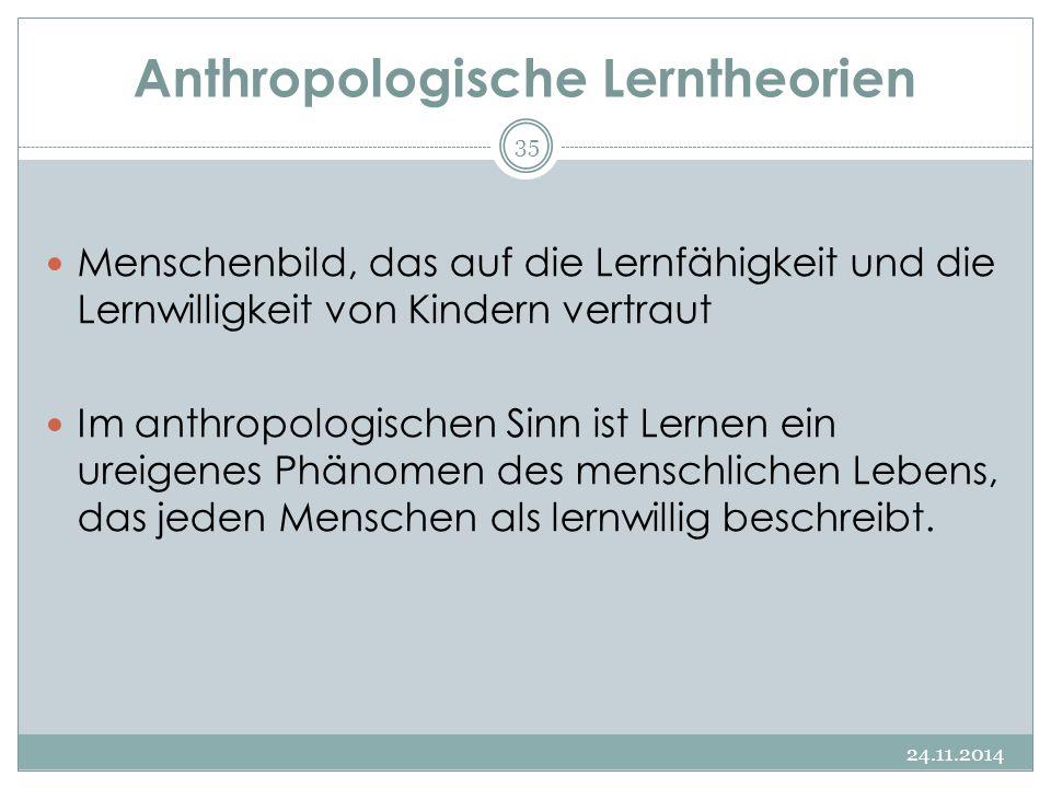 Anthropologische Lerntheorien