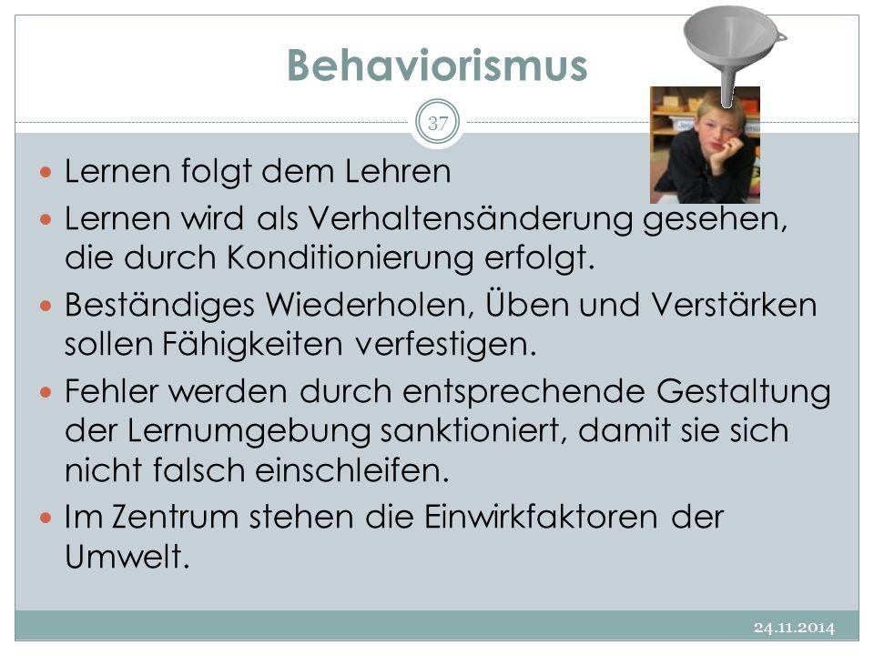 Behaviorismus Lernen folgt dem Lehren