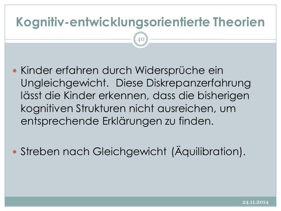 Kognitiv-entwicklungsorientierte Theorien