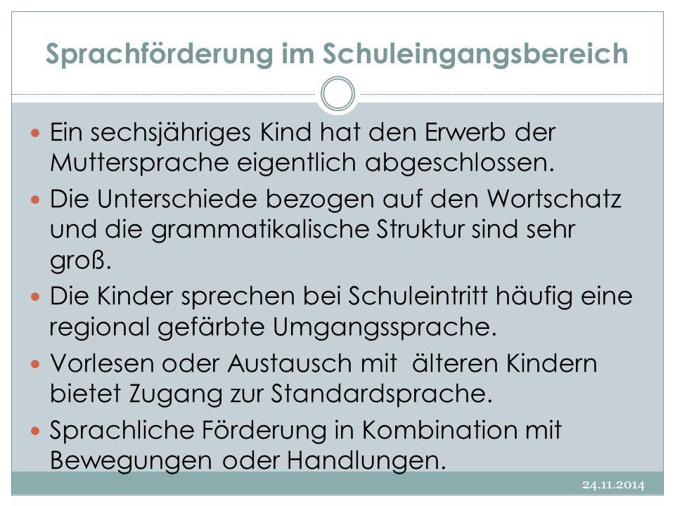 Sprachförderung im Schuleingangsbereich