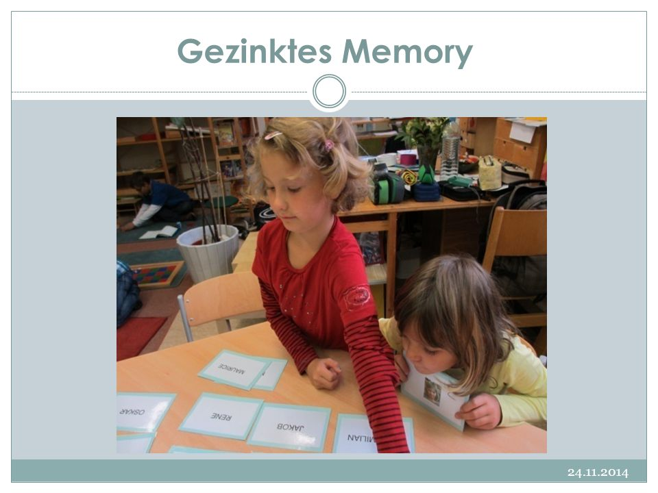 Gezinktes Memory 07.04.2017 Namensschilder in 2 Schriften Verzieren
