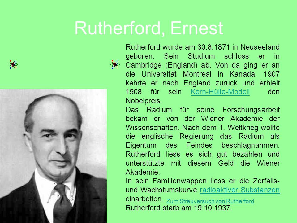 Zum Streuversuch von Rutherford