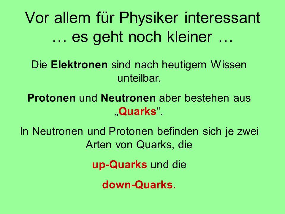 Vor allem für Physiker interessant … es geht noch kleiner …