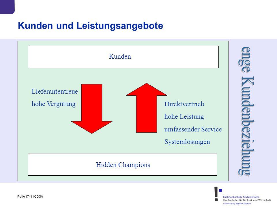 Kunden und Leistungsangebote