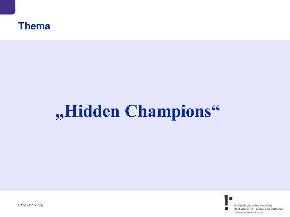 "Thema ""Hidden Champions"
