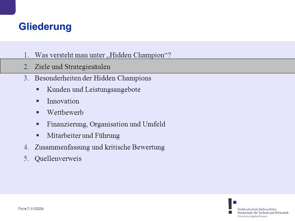 """Gliederung Was versteht man unter """"Hidden Champion"""