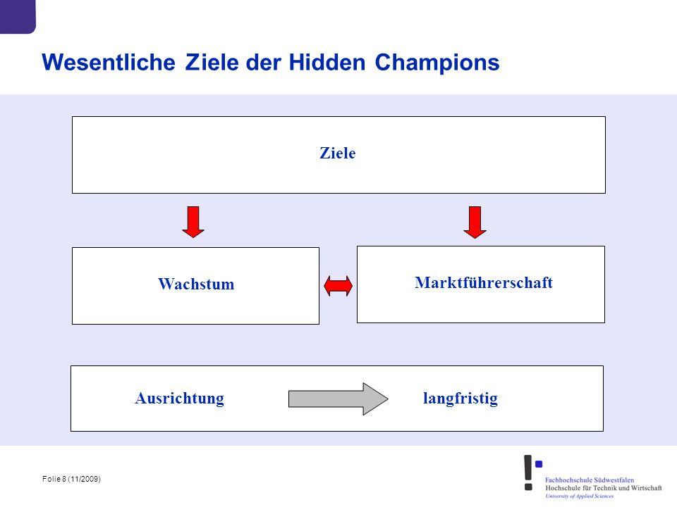 Wesentliche Ziele der Hidden Champions