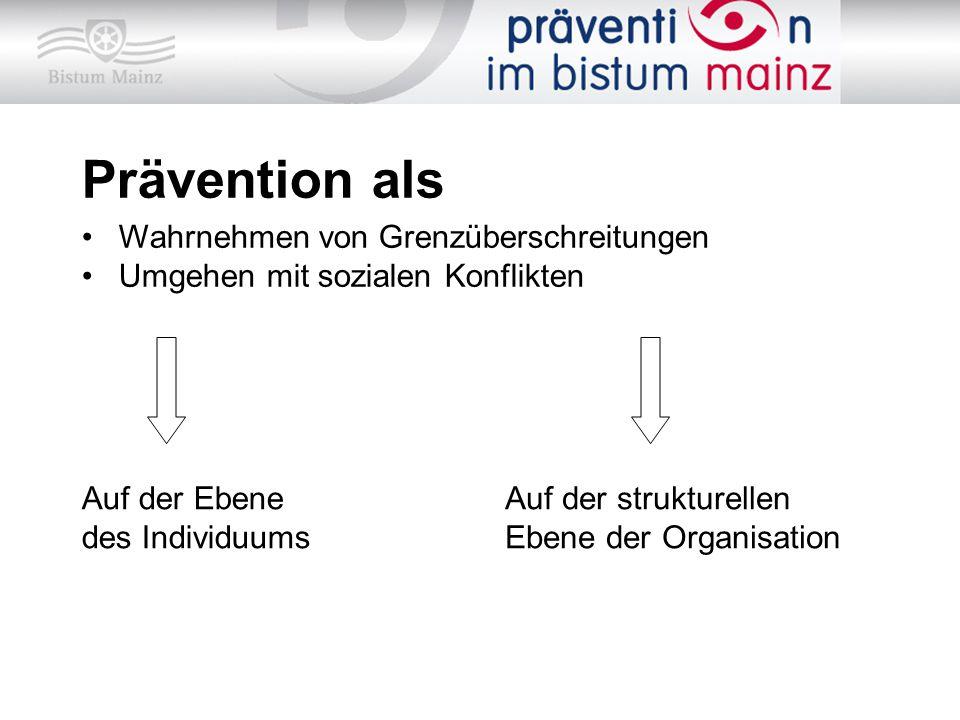 Prävention als Wahrnehmen von Grenzüberschreitungen
