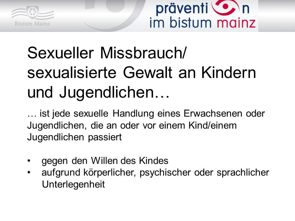 Sexueller Missbrauch/