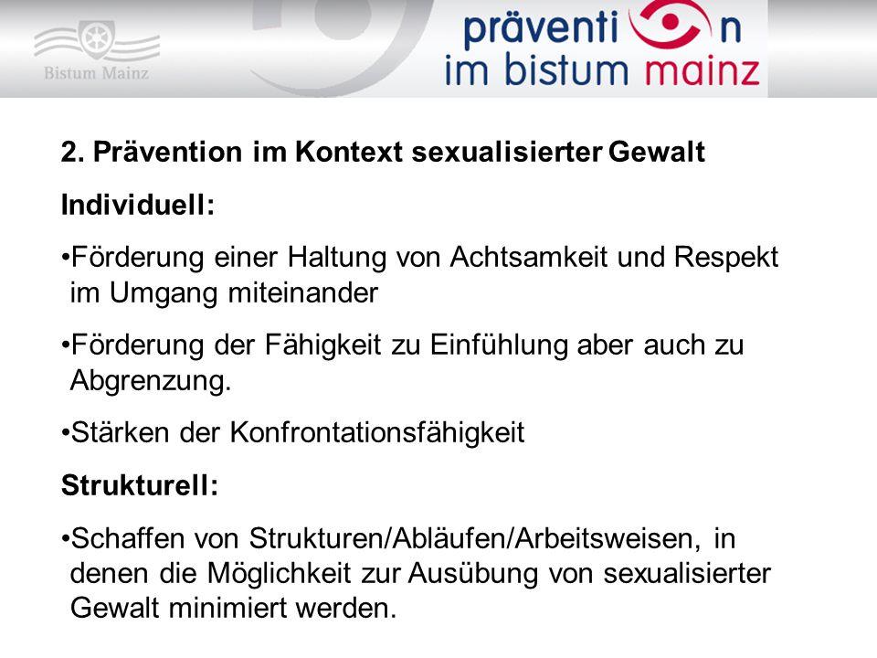 2. Prävention im Kontext sexualisierter Gewalt