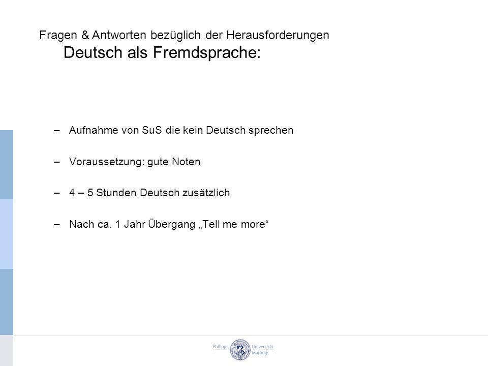 Fragen & Antworten bezüglich der Herausforderungen Deutsch als Fremdsprache: