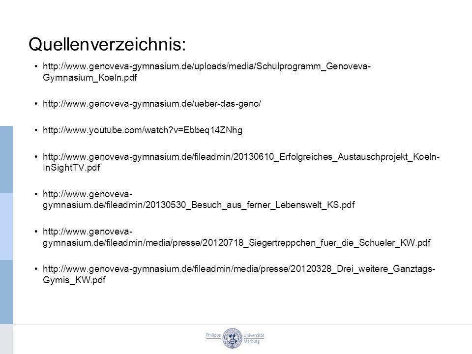 Quellenverzeichnis: http://www.genoveva-gymnasium.de/uploads/media/Schulprogramm_Genoveva-Gymnasium_Koeln.pdf.