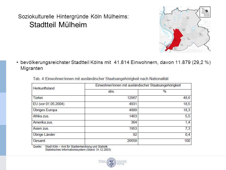 Soziokulturelle Hintergründe Köln Mülheims: Stadtteil Mülheim