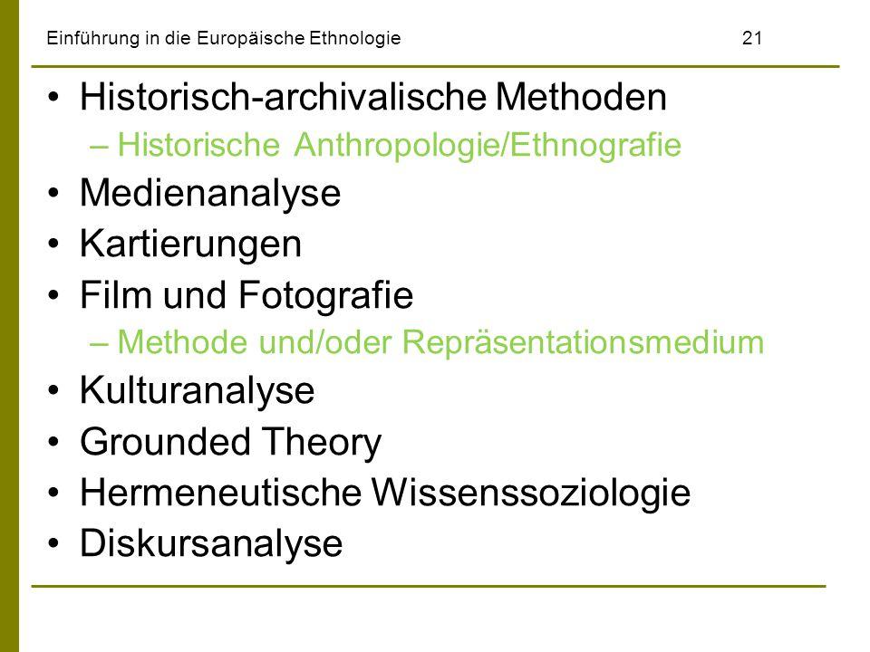 Einführung in die Europäische Ethnologie 21