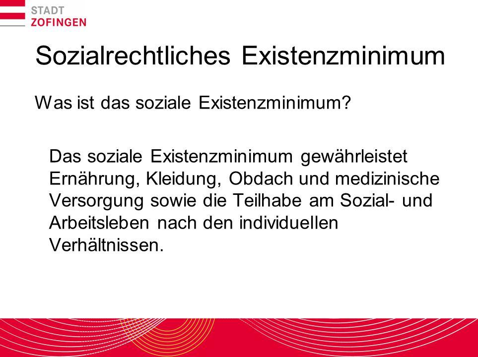 Sozialrechtliches Existenzminimum