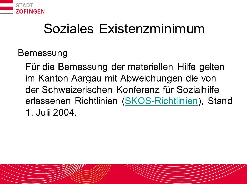 Soziales Existenzminimum