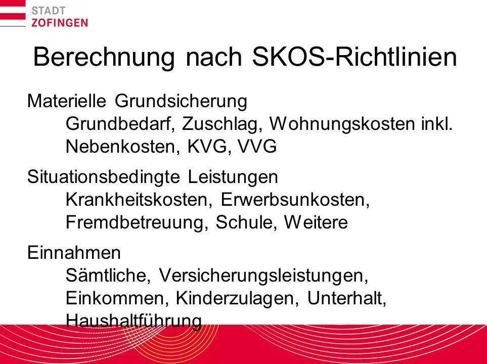 Berechnung nach SKOS-Richtlinien