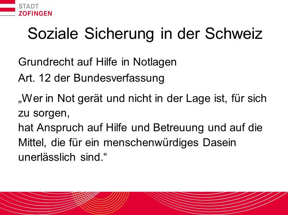 Soziale Sicherung in der Schweiz