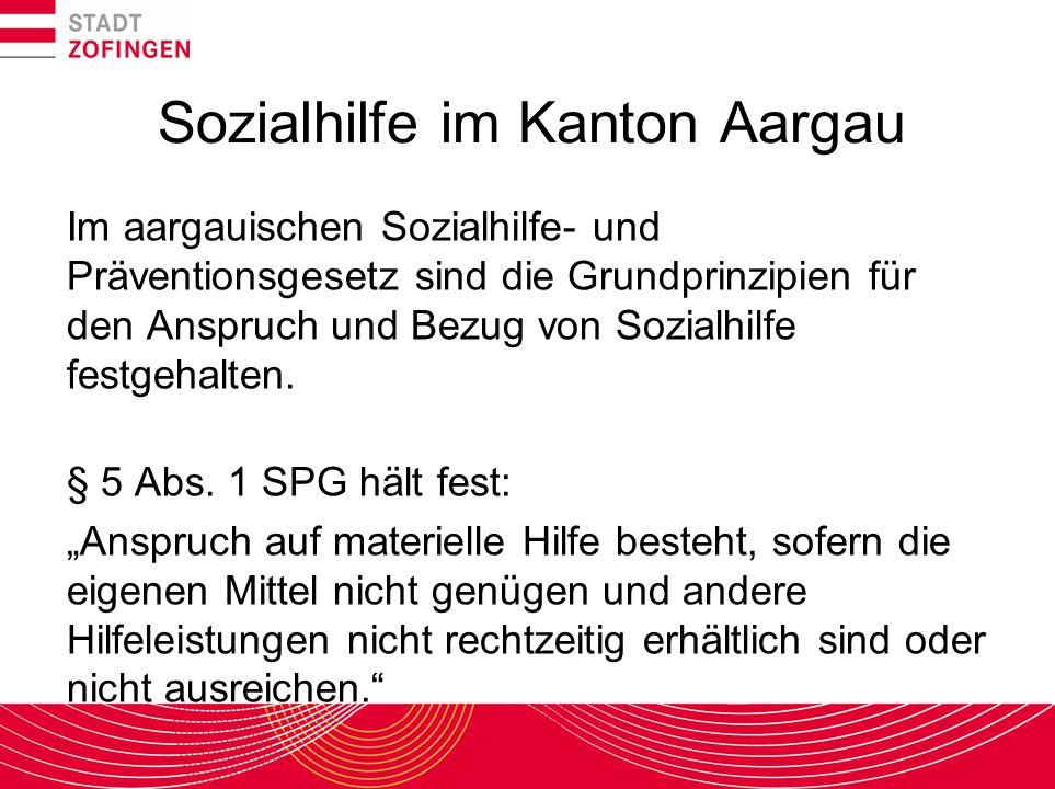 Sozialhilfe im Kanton Aargau