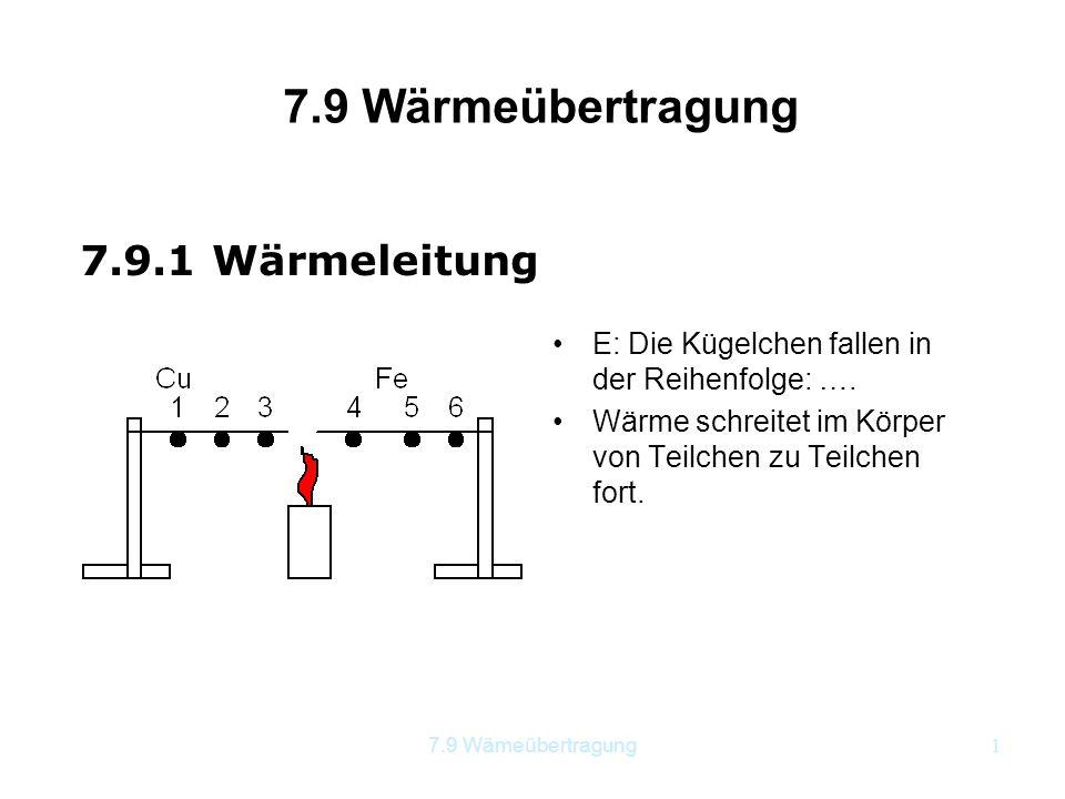 7.9 Wärmeübertragung 7.9.1 Wärmeleitung