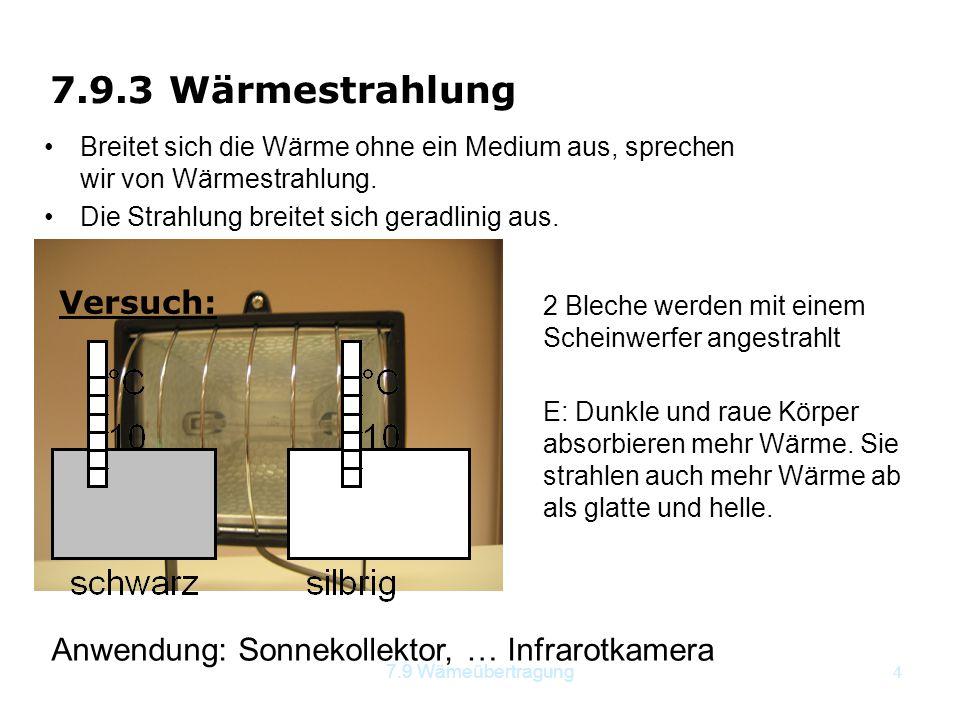 7.9.3 Wärmestrahlung Versuch: