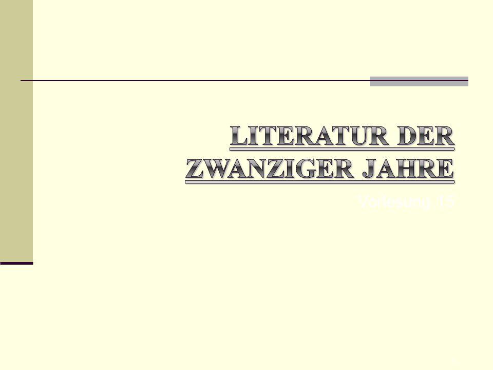 Literatur der zwanziger Jahre