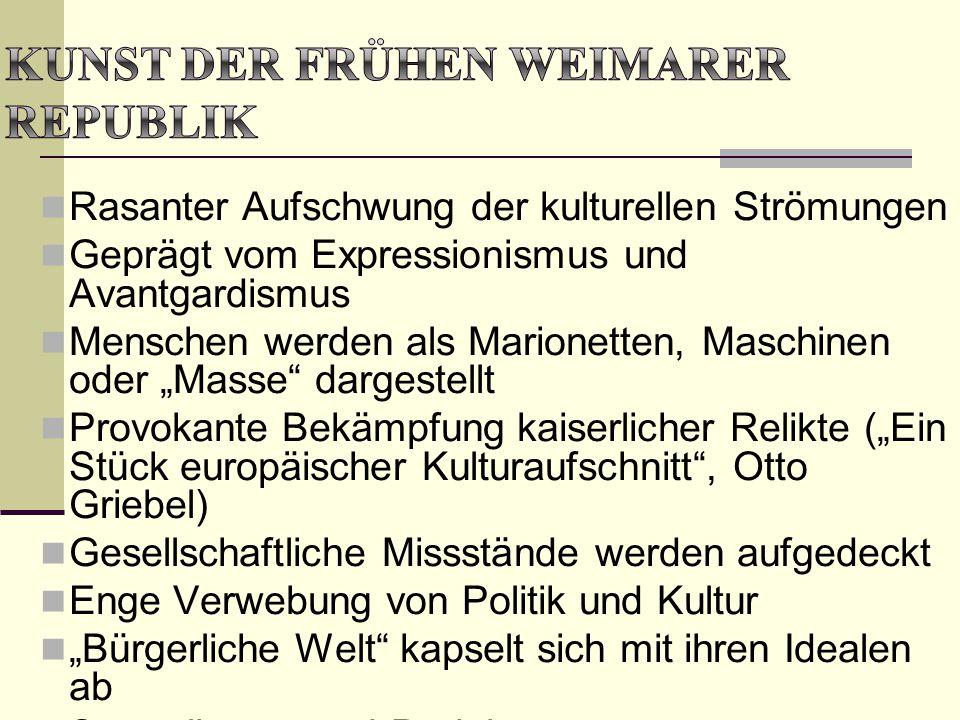 Kunst der frühen Weimarer Republik