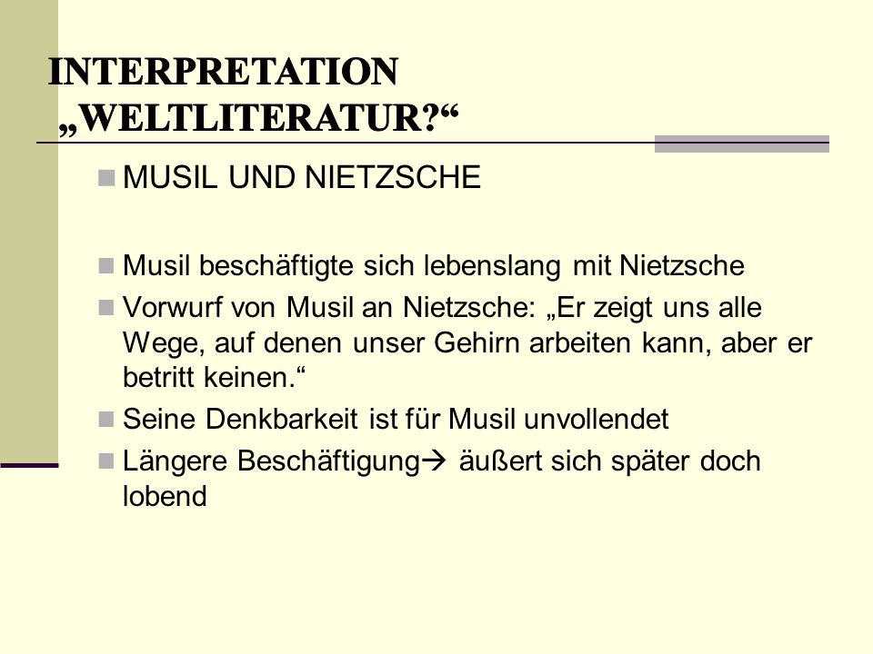 "INTERPRETATION ""Weltliteratur"