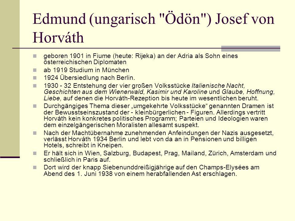 Edmund (ungarisch Ödön ) Josef von Horváth