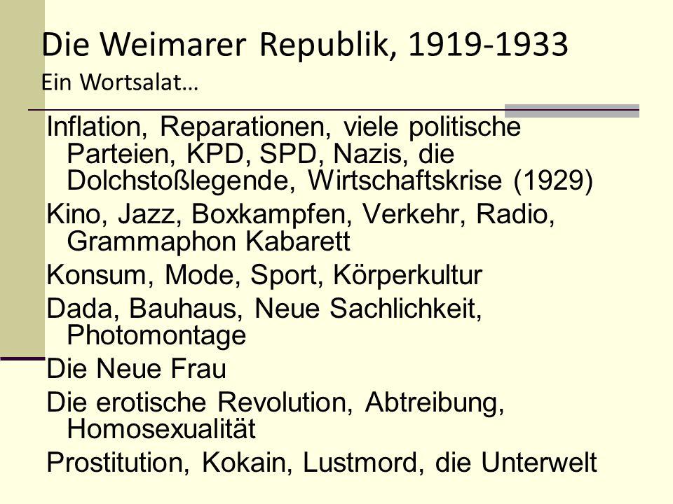 Die Weimarer Republik, 1919-1933