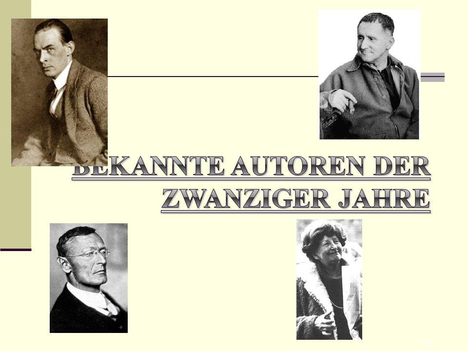 Bekannte Autoren der zwanziger Jahre