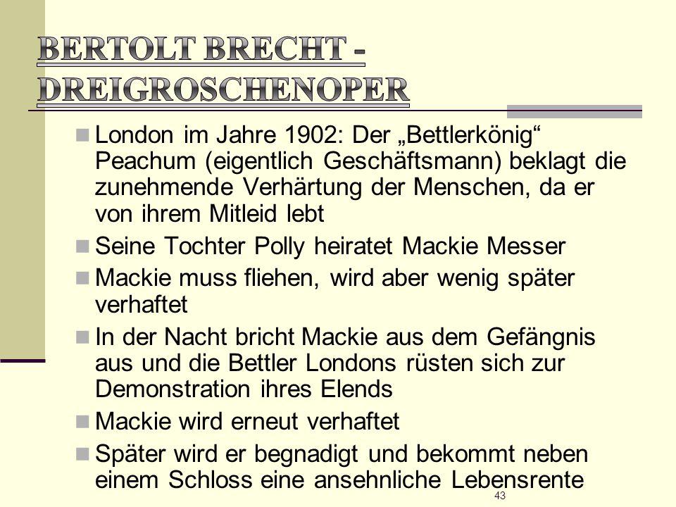 Bertolt Brecht - Dreigroschenoper
