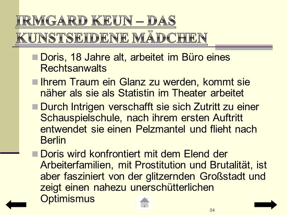 Irmgard Keun – Das kunstseidene Mädchen