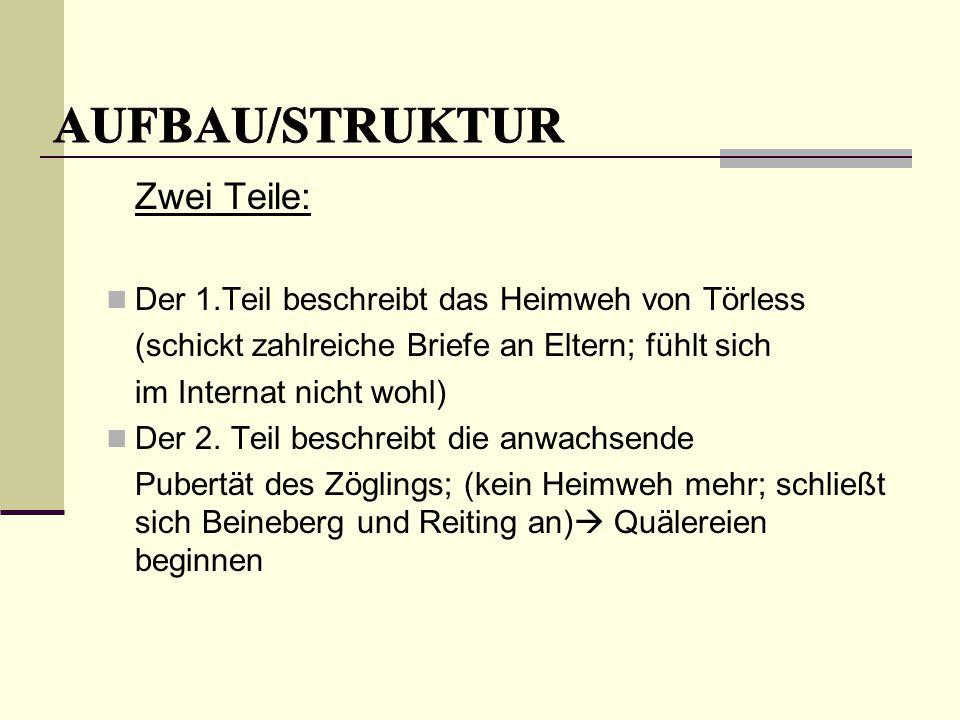 AUFBAU/STRUKTUR Zwei Teile: