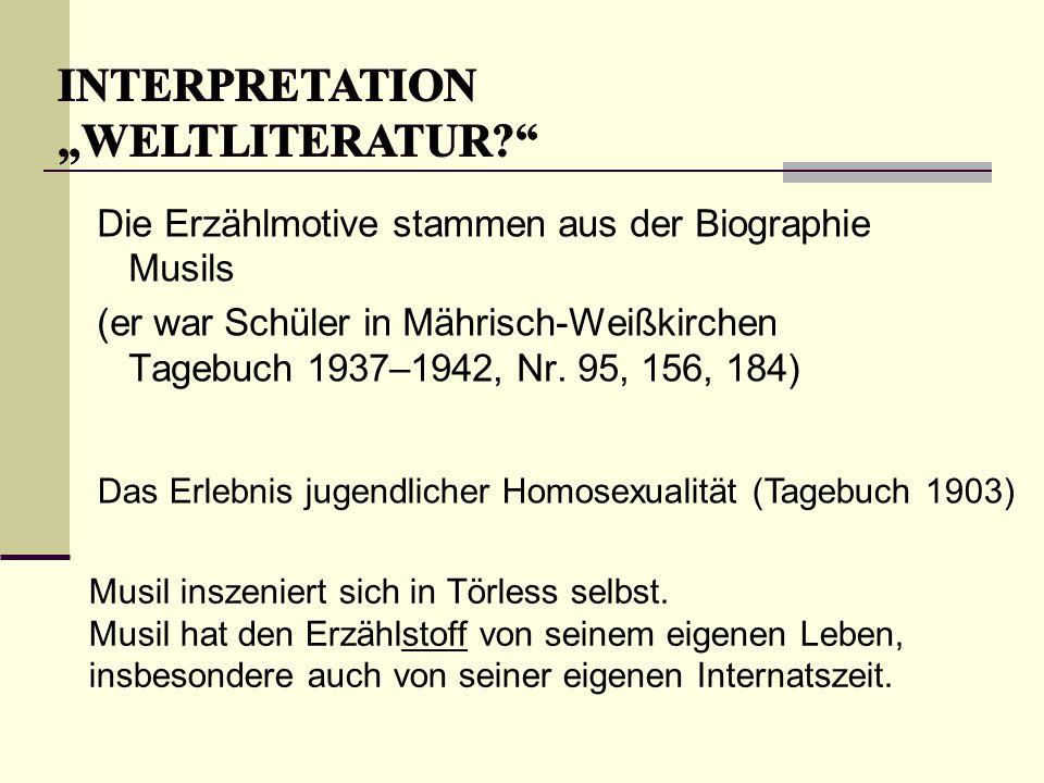 """INTERPRETATION """"Weltliteratur"""