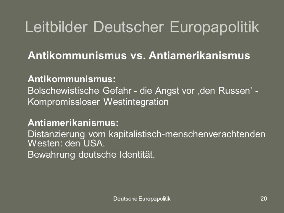 Leitbilder Deutscher Europapolitik