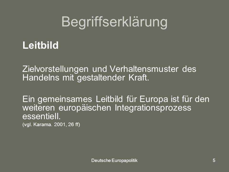 Deutsche Europapolitik
