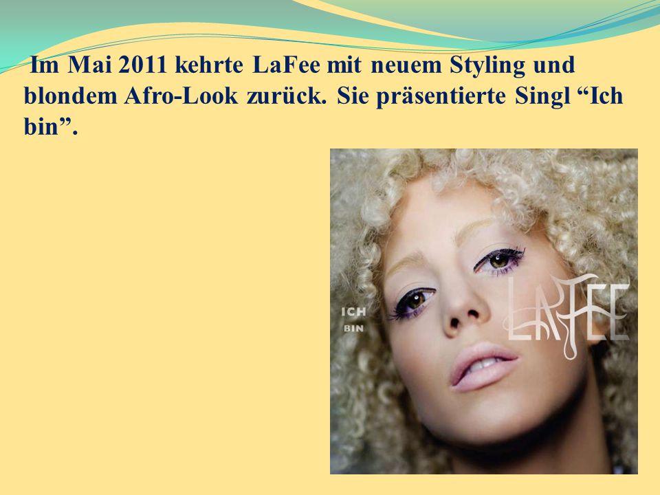 Im Mai 2011 kehrte LaFee mit neuem Styling und blondem Afro-Look zurück.