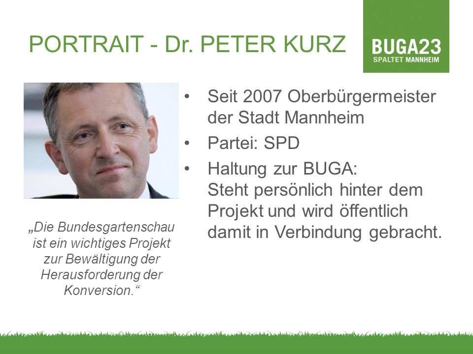 PORTRAIT - Dr. PETER KURZ