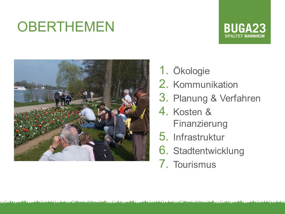 OBERTHEMEN Ökologie Kommunikation Planung & Verfahren