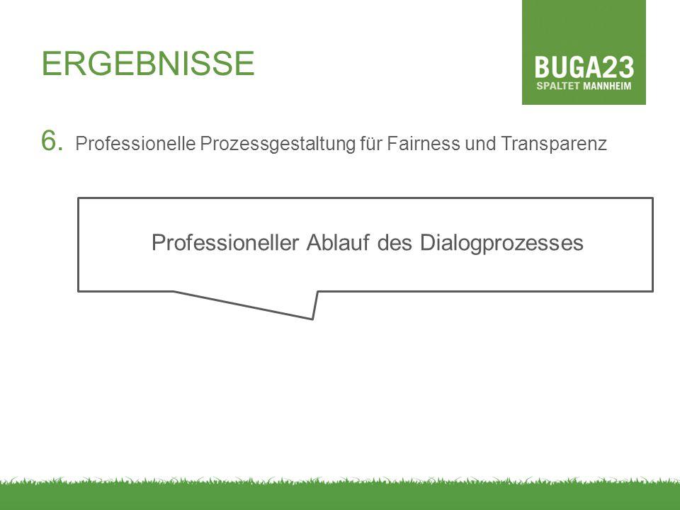 Professioneller Ablauf des Dialogprozesses