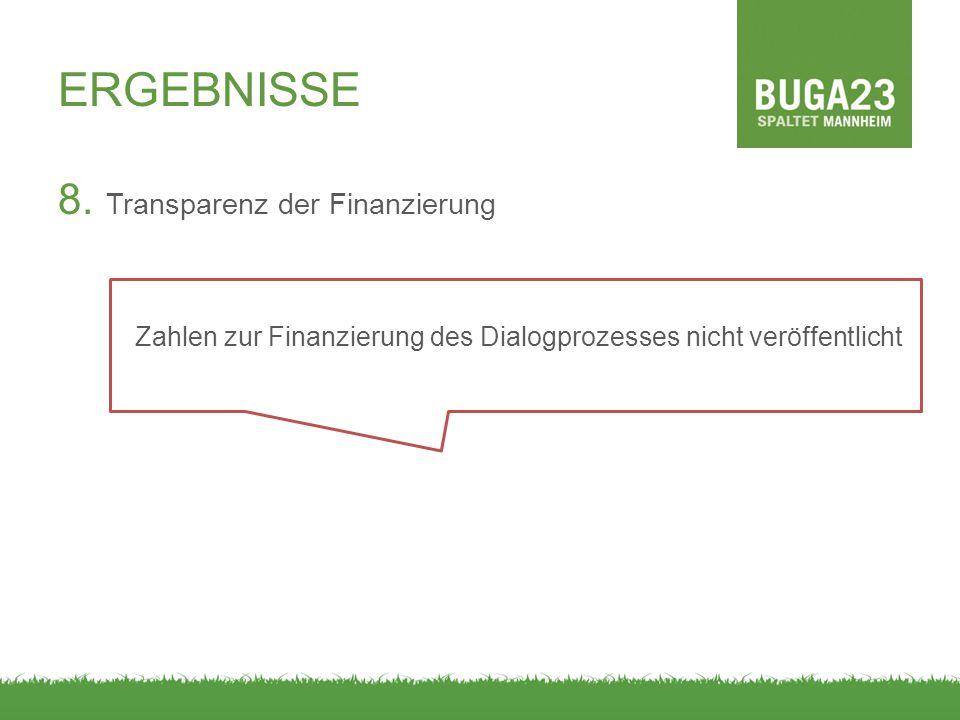 Zahlen zur Finanzierung des Dialogprozesses nicht veröffentlicht